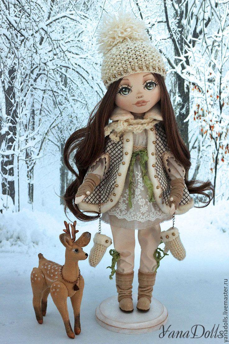 Купить Ника - белый, зима, кукла, Снег, авторская ручная работа, кукла ручной работы
