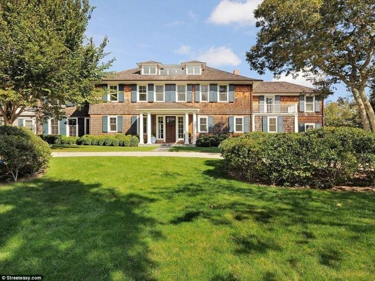 Magnificent: The home the Clintons are renting is one of the best available for rentals in the Hamptons, with its own grounds, four bedrooms and space for entertaining