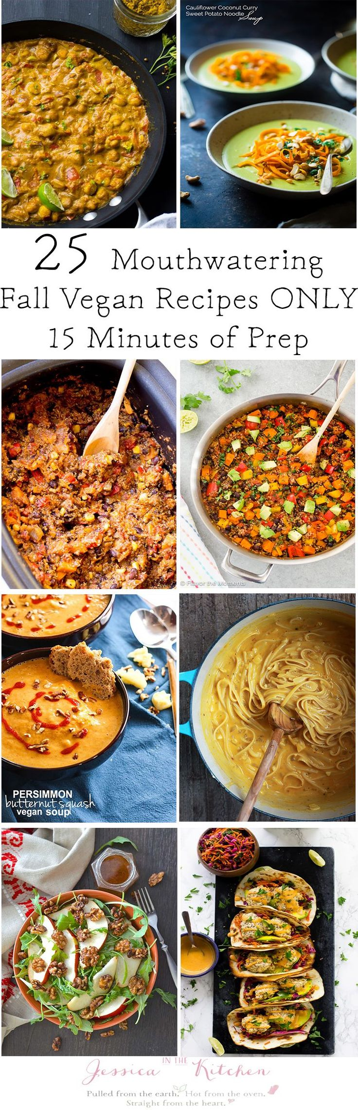 25 Mouthwatering Fall Vegan Dinner Recipes that take only 15 minutes of prep that you NEED to make!