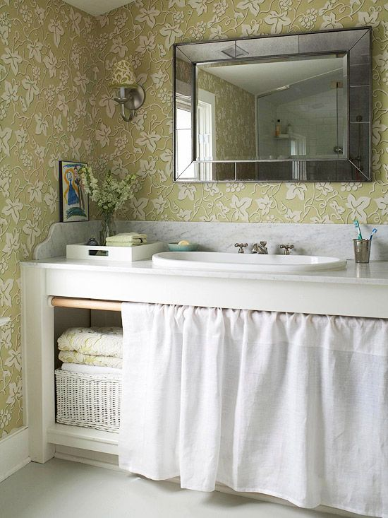 1000 ideas about bathroom sink skirt on 16563