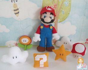 Enfeite de mesa festa Super Mario