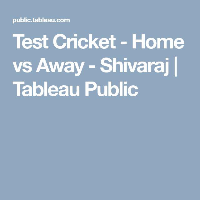 Test Cricket - Home vs Away - Shivaraj | Tableau Public