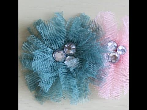 Caroline demonstrates how to use Maya Road's Tu-Tu Tulle trim to make a flower that can be used as a broach or a hair clip.