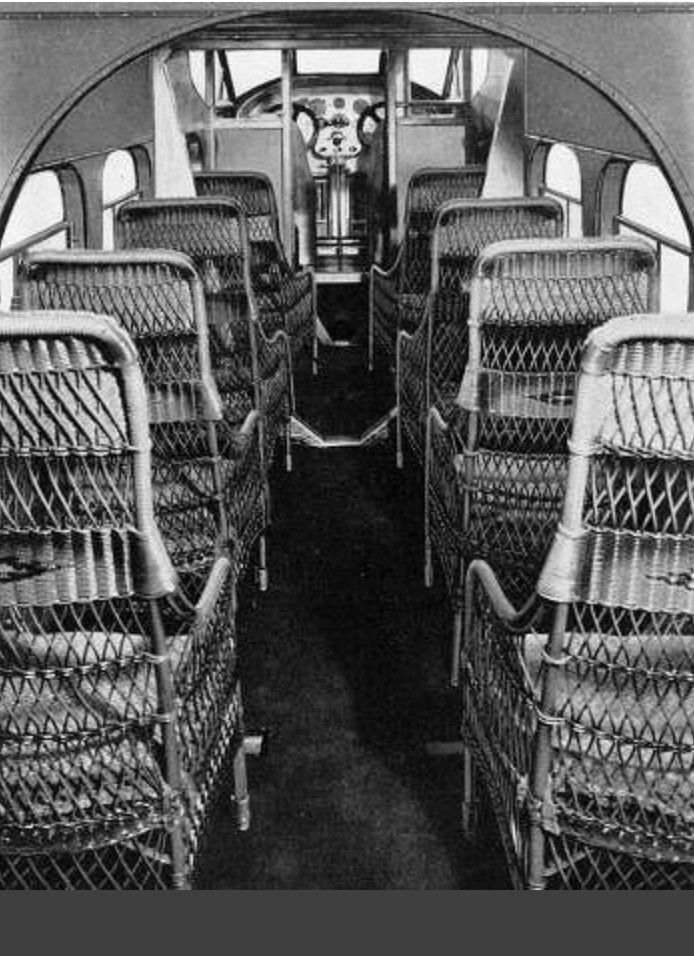 Wicker airline seating