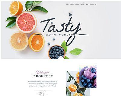 Gourmet WP Theme Layout