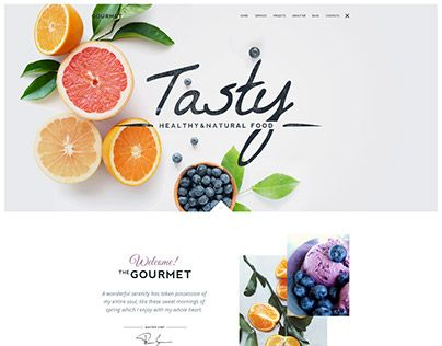 Gourmet WP Theme Layout