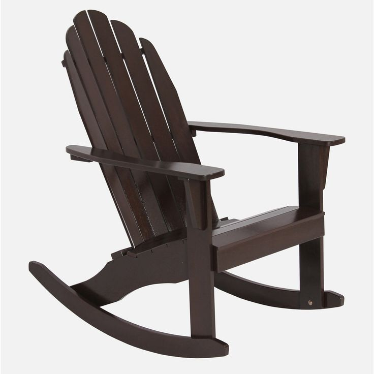 Wood Adirondack Rocking Chair Patio Deck Garden Seat Furniture Brown Comfortable #PatioFurnitureAccessories