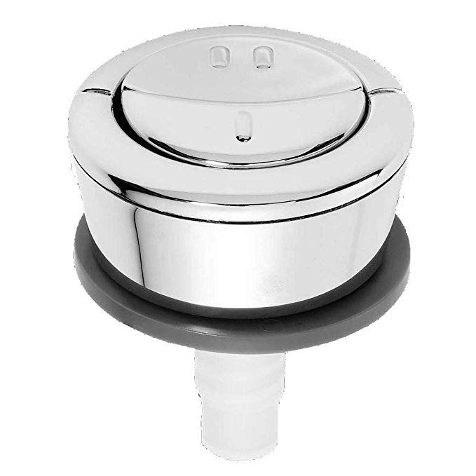 Wirquin Jollyflush Dual Flush Chrome Push Button Toilet Flushing Button 10717795 Flush Toilet Chrome Flushing