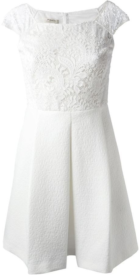 Pinko floral lace skater dress on shopstyle.com