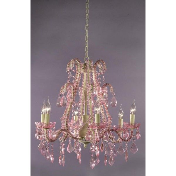 39 best pink chandeliers images on pinterest chandeliers pink the stylish chandelier marie therese cream crack 6 arm pink crystal mozeypictures