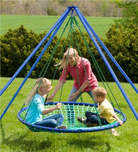 Sky Island swinging platform for fun, kicking back or even daydreaming.