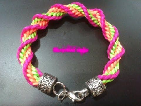 DIY : comment faire des bracelets avec la technique de kumihimo / kumihimo patterns - YouTube