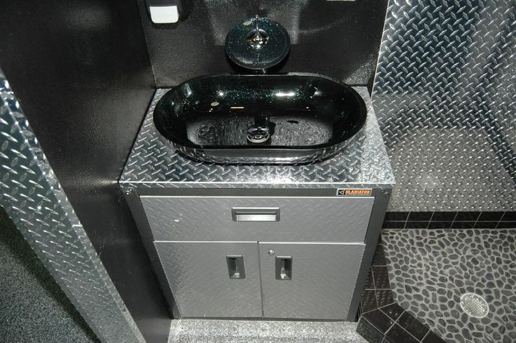 Stainless Steel Garage Sink : garage sink Mans 3 roll Toilet Paper Holder out of piston rods and ...