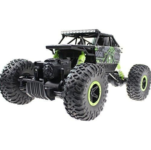 SXJJX RC Rock Off-Road Vehicle 2.4Ghz 4WD High Speed 1:18 Racing Cars RC Cars Remote Radio Control Cars Electric Rock Crawler Electric Buggy Hobby Car Fast Race Crawler Truck-Green