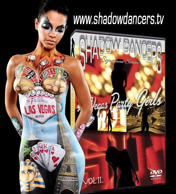 Great vegas body paint love the shadow dancers series for for Body paint party city