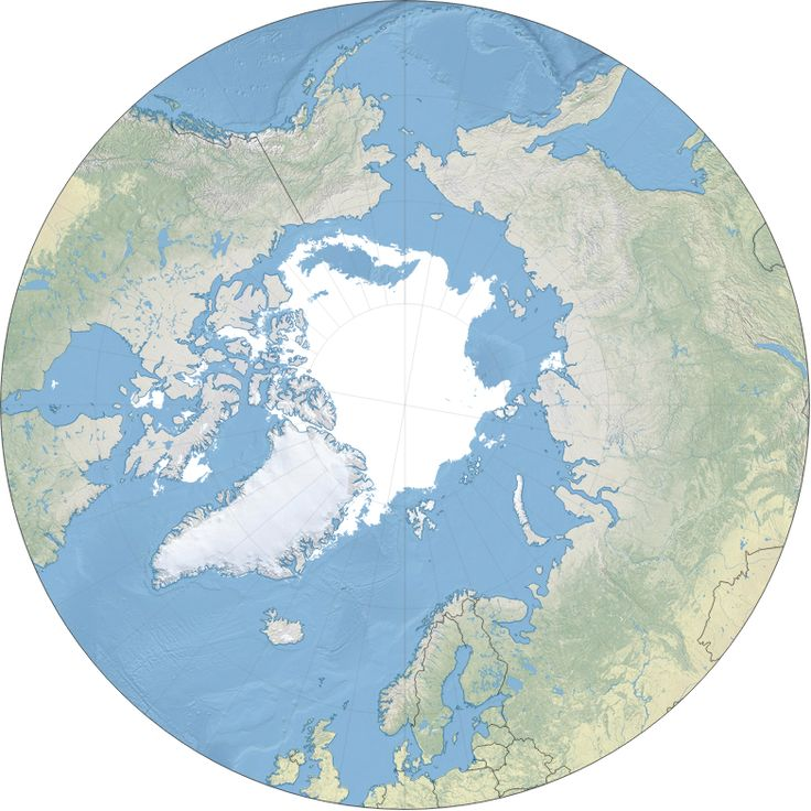 Interactive map showing the current Arctic sea ice cover.: