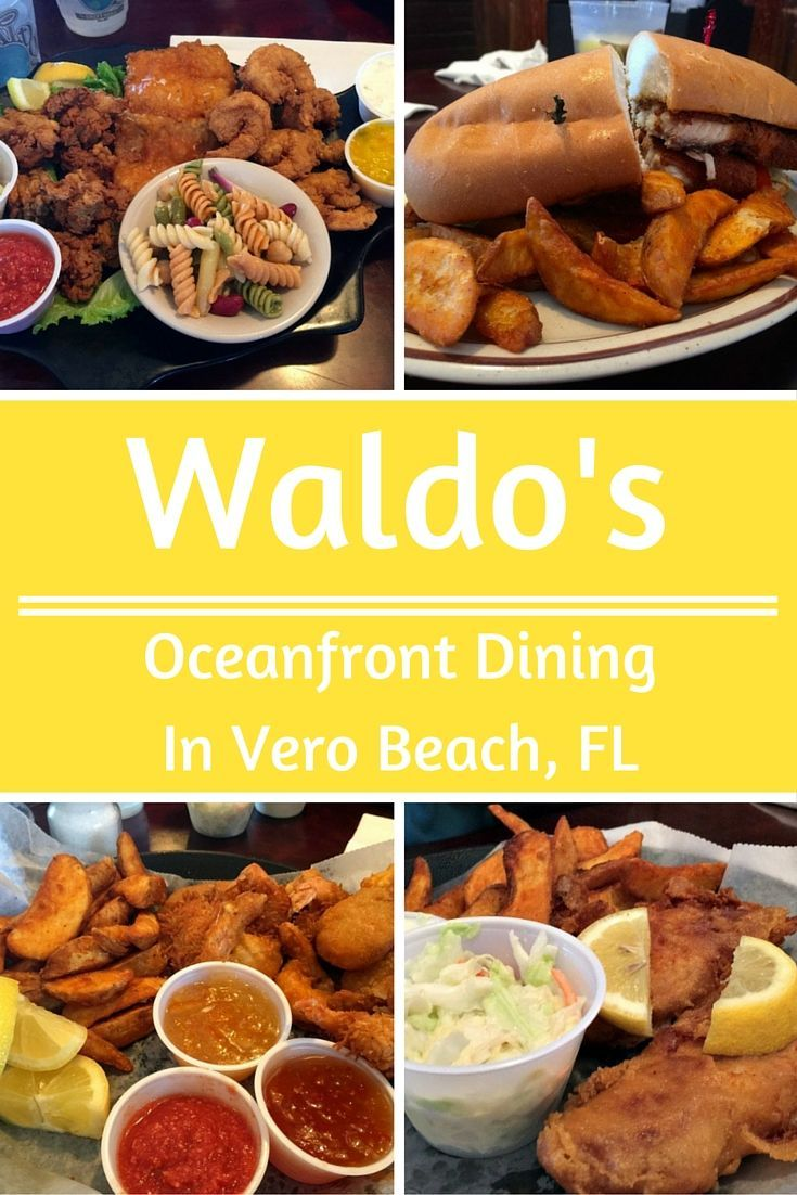 Waldo's is the oceanfront restaurant at the historic Driftwood Hotel, on Ocean Drive in Vero Beach. Their food is fabulous and it is the most fun atmosphere in all of Vero. Check out these yummy entrees.: