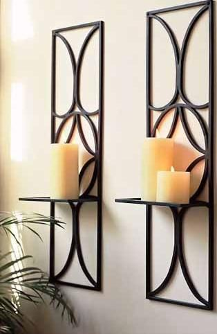 Lamps and Lighting, Long Wall Candle Holder Accessories Elegant Wall Lighting Decoration For Living Room Areas With Vintage Brown Iron Large Wall Candle Sconces Beautiful Wall Decoration Using Large Wal ~ You Can Find Candle Sconces For The Wall In Sizes That Range For Wall