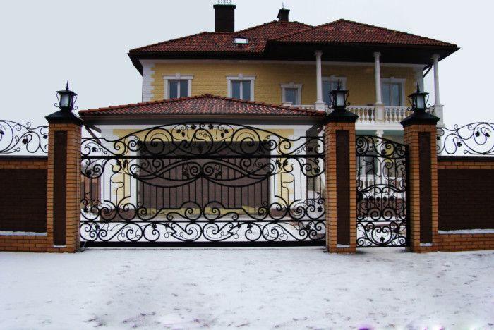 Художественная ковка. Кованые ворота, заборы и калитки.