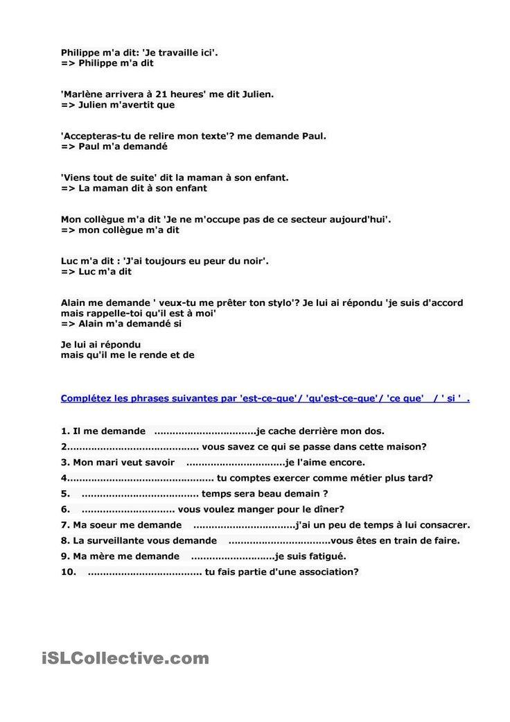 Francais.com. Test unite 7