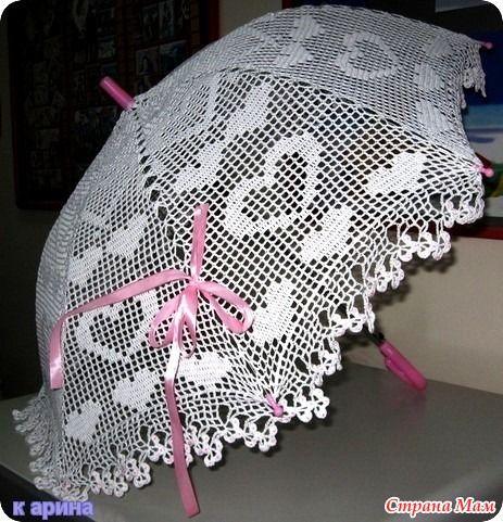 Девочки, с наступающим праздником!!! Теперь вам в подарок - зонты. Или немного скатертей с филейными схемами, которые тоже - те же зонты.