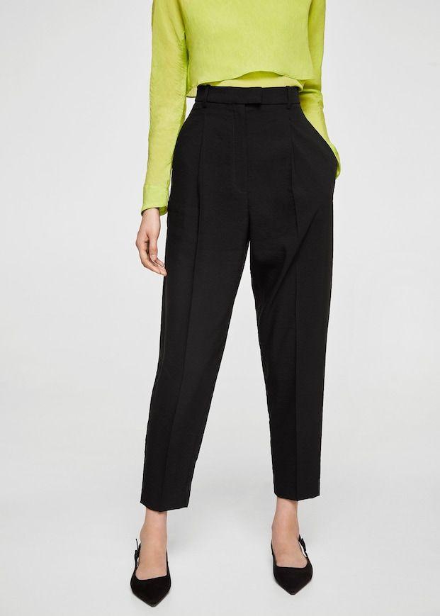 0b2f25060e86 Pantaloni diritti texture - Donna   Change Style   Trousers ...