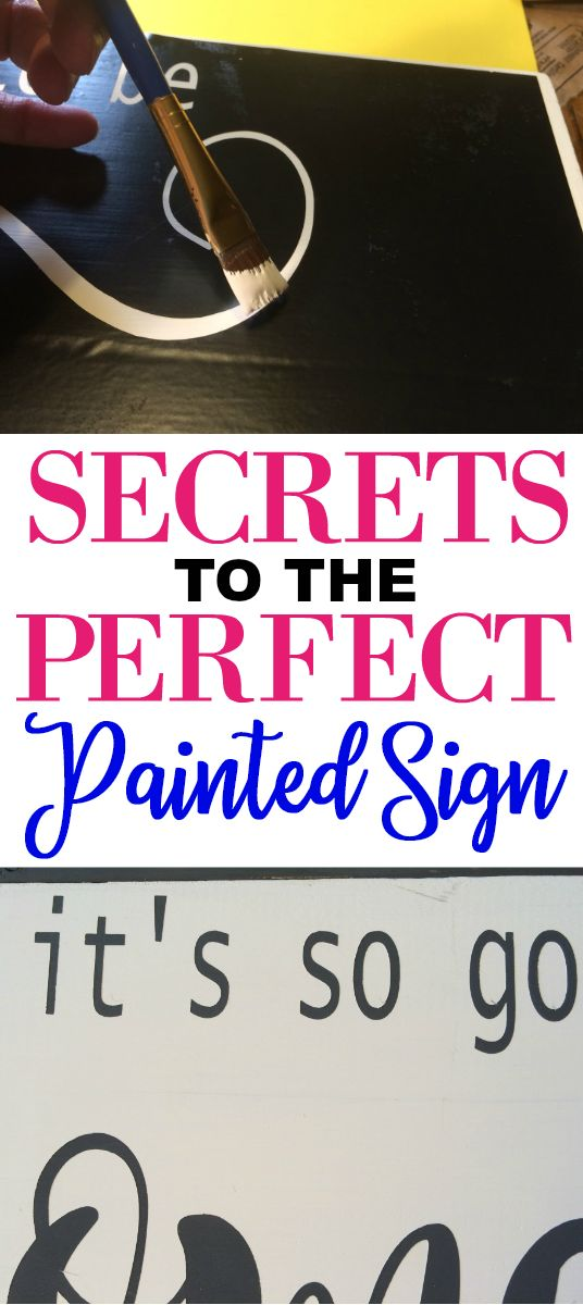 Secrets to painting wood signs perfectly with crisp letters using a vinyl stencil.  A Painted wood sign tutorial with free SVG file.