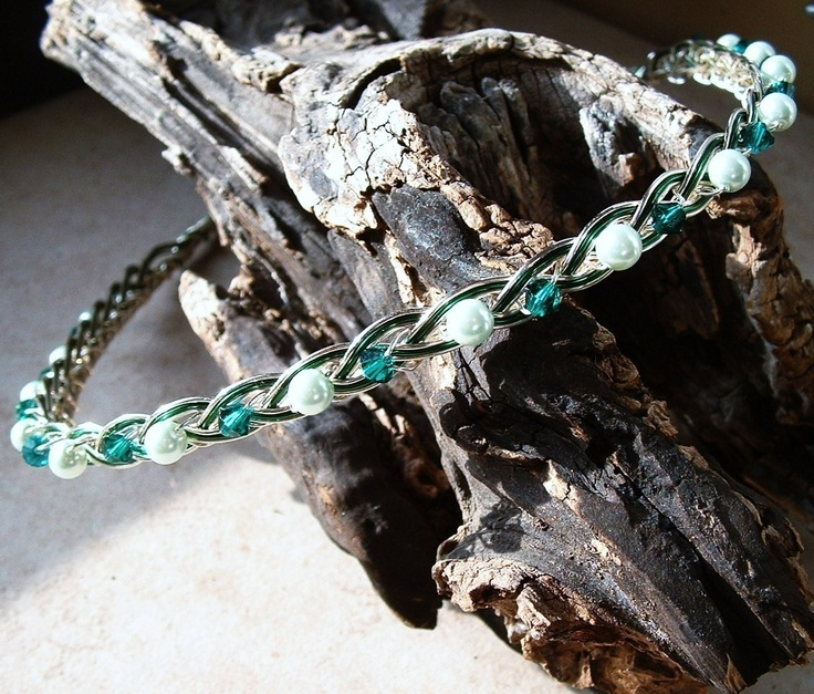 Irish Emerald Celtic Knot Wedding Headband