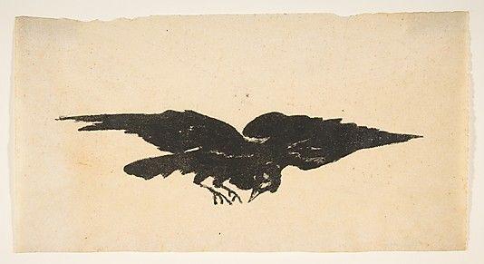 Ex Libris for The Raven by Edgar Allan Poe  Édouard Manet (French, Paris 1832–1883 Paris)
