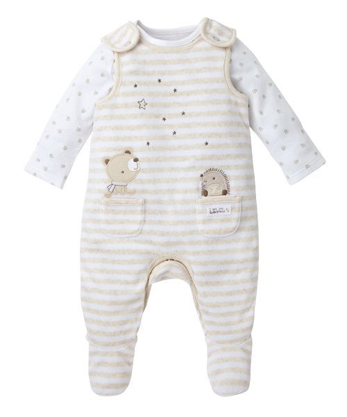 Little Bear Dungaree Set - dungaree sets - Mothercare