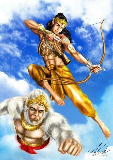 Lord Rama & Hanuman