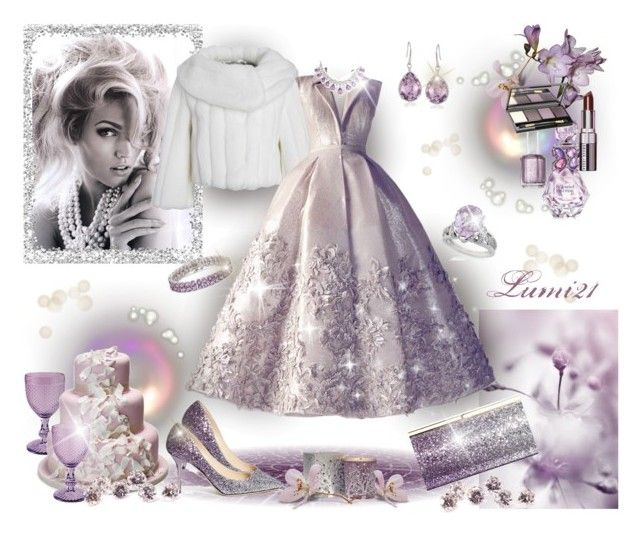 fantasy by lumi-21 on Polyvore featuring Debut, Jimmy Choo, AND 1, DeLatori, Ross-Simons, Dr.Hauschka, Bobbi Brown Cosmetics, Vera Wang, Essie and Rose Pierre