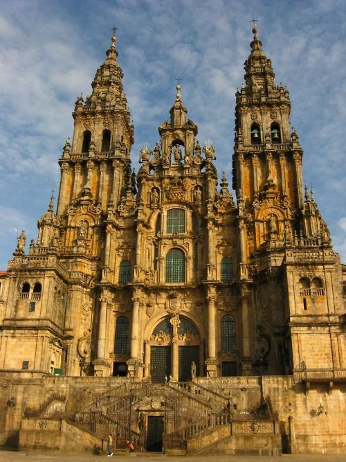 On your way to Relais  Châteaux Hotel  Spa A Quinta da Auga you can visit Catedral de Santiago de Compostela, Galicia.