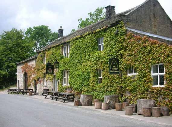 WHARFEDALE - Craven Arms Appletreewick. Our  pub is nestled in the heart of Wharfedale with that 'something' extra special. Serving real ales & great food accompanied by gas lighting, real log fires and a great, friendly atmosphere. The cruck barn behind provides the venue for many large events such as weddings, birthdays, anniversaries and parties. The heather thatched roof and soaring oak trusswork provides a truly unique atmosphere for your celebrations. www.craven-cruckbarn.co.uk