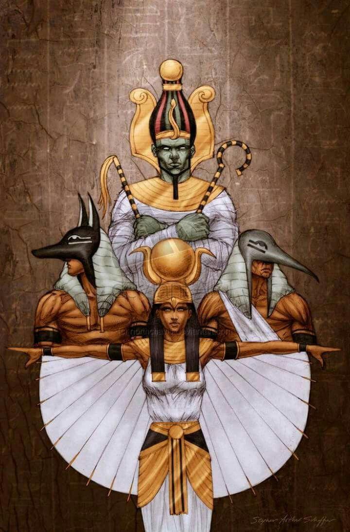 Osiris, Isis, Anubis, Thot