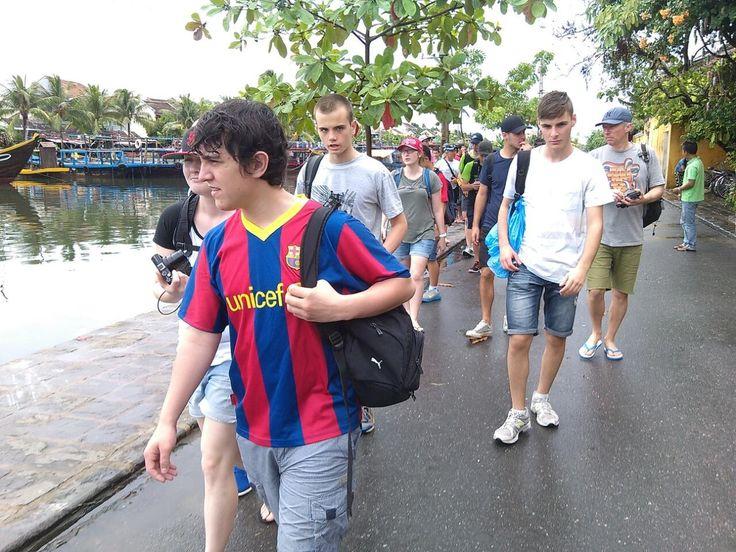Walking through the picturesque town of #HoiAn. #VietnamSchoolTours