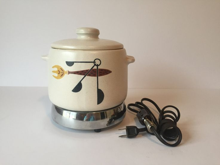 Vintage West Bend Slow Cooker, Casserole Dish, Food Warmer, Slow Cooker Crock Pot, Buffet Patio Server, Buffet Warmer, 2 Qt Crock Pot by GirlGoesVintage on Etsy