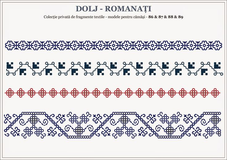 Semne Cusute: motive traditionale romanesti - OLTENIA; Dolj-Roma...