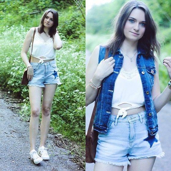 Get this look: http://lb.nu/look/8737051  More looks by Audrey: http://lb.nu/audrey_c  Items in this look:  Bershka Crop Top, Primark Short, Primark Jacket, Adidas Sneakers   #primark #adidas #bershka #summer