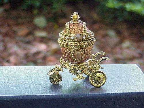 Real Decorated EGG Bridal Shower Wedding Engagement Ring Gift BOX Princess | eBay