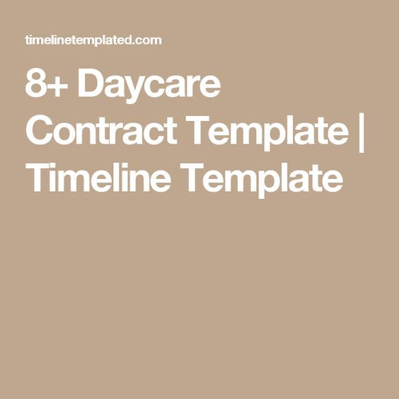 The 25+ best Daycare contract ideas on Pinterest Daycare ideas - nanny contract template