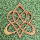 Stylized Celtic Heart-Knot of Everlasting Love-Heart Shaped Wood