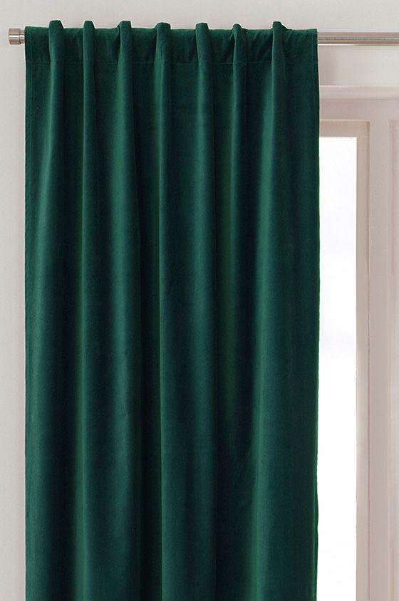 6 snygga sammetsgardiner för lyxigare fönster