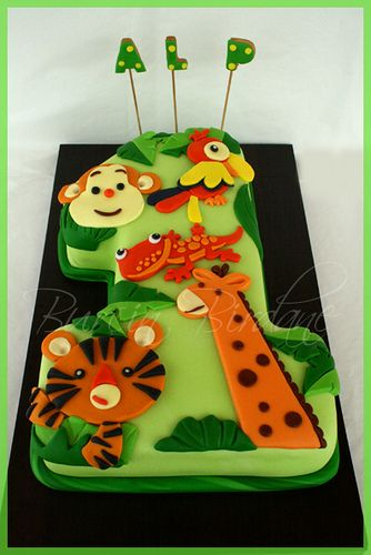 Such a cute cake!!!!  Jungle Cake by burcinbirdane, via Flickr