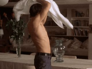 """chocolate-scissors-and-corn: """" A bit of shirtless Mads Mikkelsen from En Kort En Lang (Shake It All About) i regret nothing """""""