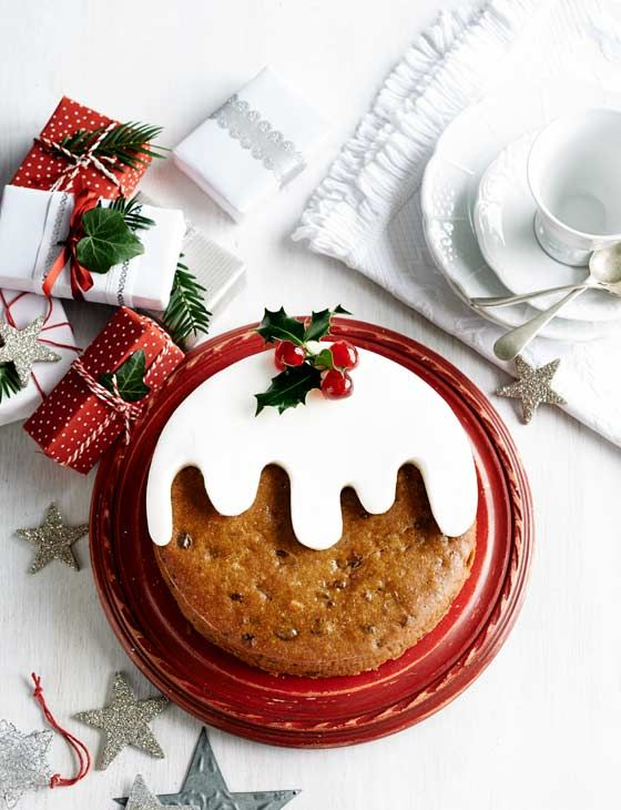Tropical Christmas Pudding Cake ~ lighter cake version of the usual steamed pudding for holiday dessert | recipe from Frances Quinn, #GBBO s4 winner, via Sainsbury's Magazine
