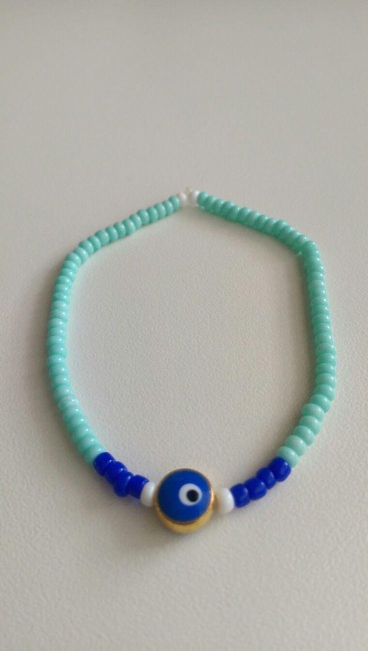 Bracelet, ❤evil eye & navy