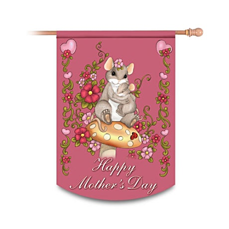 """Charming Tails """"Happy Mother's Day"""" Decorative Flag banner"""