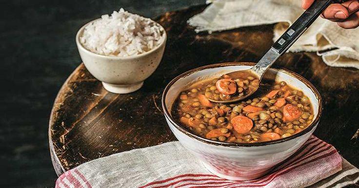 Sopa de lentejas con salchicha, Recetas - Edición Impresa CocinaSemana.com - Últimas Noticias (Lentil Soup with Sausage)