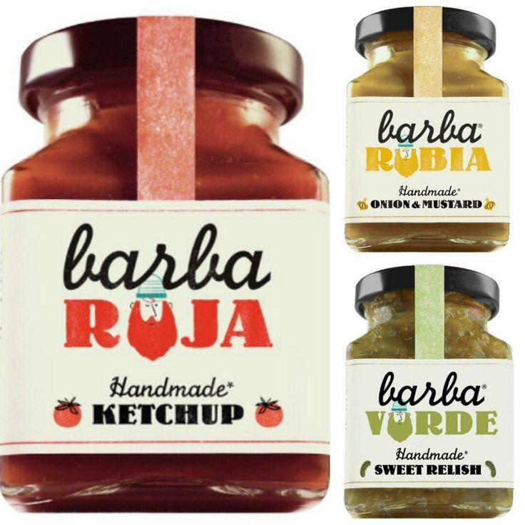 La tienda online gourmet y delicatessen Érase un gourmet tiene a la venta ketchup, salsa de pepino verde y salsa de cebolla con mostaza, marca Barba-Roja.